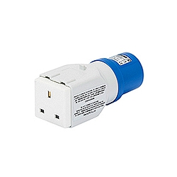13amp plug to 16amp Euro Socket Adaptor