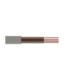 1.0mm 6243Y Grey Three Core And Earth Flat Cable