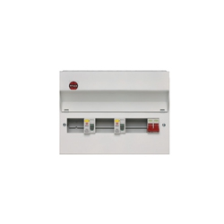 Wylex Metal High Integrity Consumer Units 1 Mainswitch + 2 RCD's