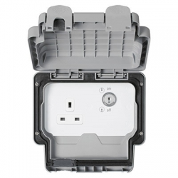 MK Masterseal Plus IP66 Key Operated Switchsockets