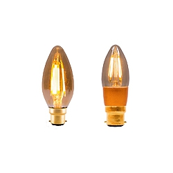LED Vintage Candle By British Electric Lamps
