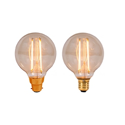 LED Vintage Globe By British Electric Lamps
