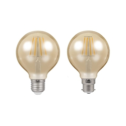 LED Vintage Globes By Crompton Lamps