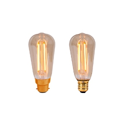 LED Vintage Squirrel Cage By British Electric Lamps