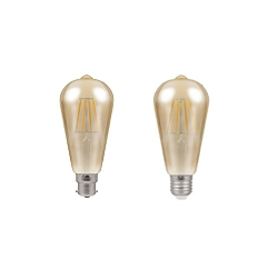 LED Vintage Squirrel Cage By Crompton Lamps