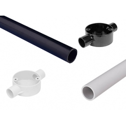 Conduit - PVC Round Heavy Gauge Conduit + Accessories