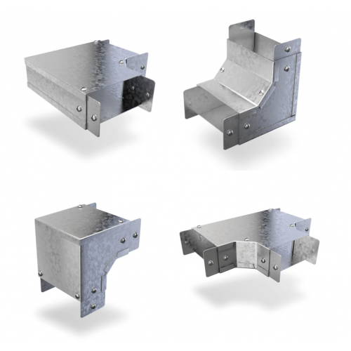 3 x 3 metal trunking accessories