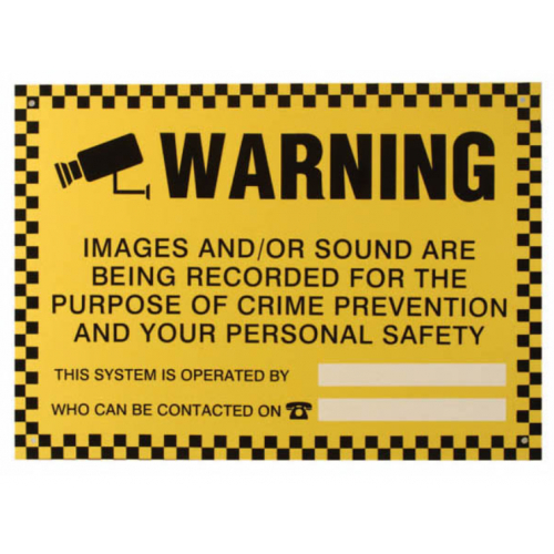 CCTV Recording Warning Sign