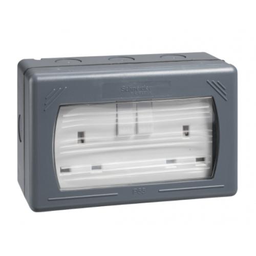 Schneider Exterior Sockets IP55 (IP4X in use)