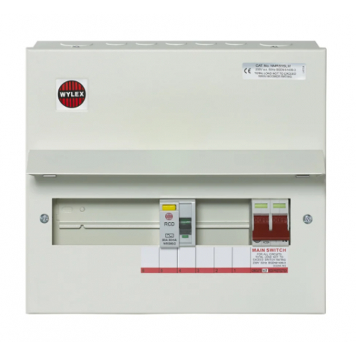 Wylex Metal Split Load Consumer Units 1 Mainswitch + 1 RCD