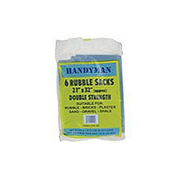 RSB Rubble Sack Heavy Duty 21x32inchs Double Strength Pack of 6