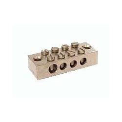 Metpro EB4 4way Tinned Brass earth bar 1 x 25mm2 & 3 x16mm2 ETTB4