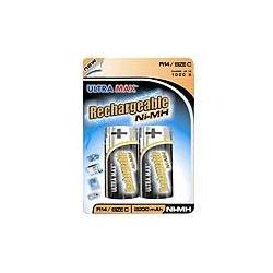 Ultramax C 2600mAH Rechargeable batteries(2=Pack)
