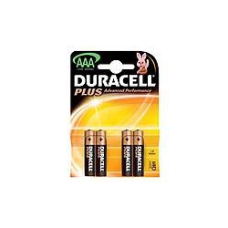 Duracell MN2400B4 PLUS AAA type battery Pack of 4