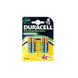 Duracell HR03PK4 AAA Staycharged Rechargeable batteries Pack=4