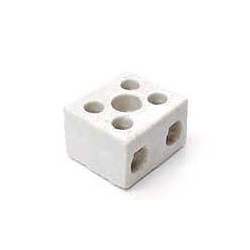 Norslo PC152 15amp 2 Pole Porcelain Connector Block