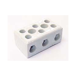 Norslo PC303 30amp 3 Pole Porcelain Connector Block