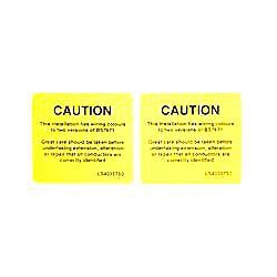QLU LS4035T50 2 x yellow self adhesive labels,  New Cable Colour Label