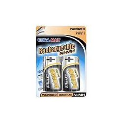 Ultramax D 2600mAH Rechargeable batteries(2=Pack)