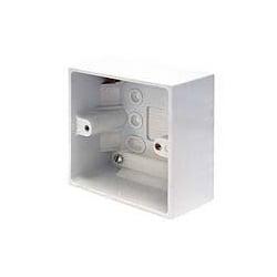 CED PB47/1 1gang 47mm plastic surface pattress mounting box