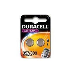 Duracell D357-303 1.5 volt silver oxide bat.Pack=2