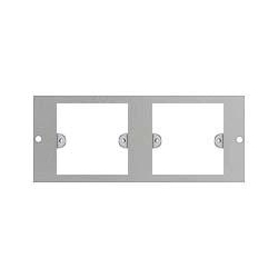 Britmac GB3J3/BG Plate to accept 2x1gang wiring accessories