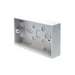 CED PB32/2 2gang 32mm plastic surface pattress mounting box