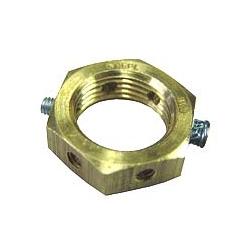 WISKA EN32 P NUT 32mm brass locking earth nut Piranha