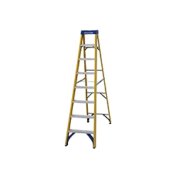 ABRU Werner 71608 8 step (7 useable) 2.23m.fibre glass stepladder