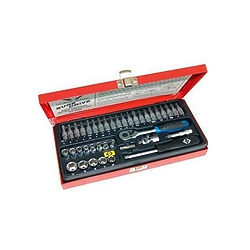 "CK Tools T4655 Sure Drive System 39 Piece Socket Set 1/4"" Drive"