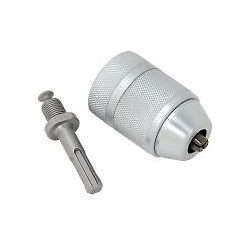 PT10043 2.0-13.0mm 3 Jaw Keyless Chuck with Adaptor to SDS+ Metal