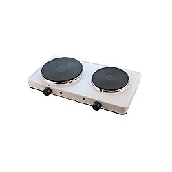 CED BR2 2 Ring boiling plate 2500watt white with 13amp plug