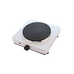 CED BR1 1 Ring boiling plate 1500watt white with 13amp plug