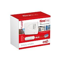ESP FLK4P MAG4P Fire Alarm Kit 4 Zone+Accessories