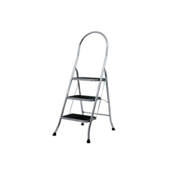 ABRU Werner 22043 3 Tread Stepstool Chrome Finish Steps
