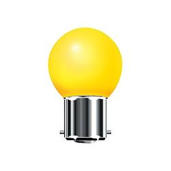 BELL 01520 15 Watt 240v BC Yellow G45 Round Coloured Lamp