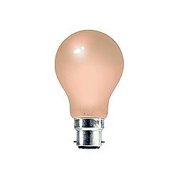 BELL 01528 25 Watt 240v BC Pink GLS Coloured Lamp