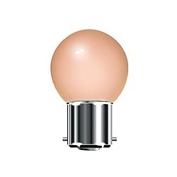 BELL 01517 15 Watt 240v ES Pink G45 Round Coloured Lamp