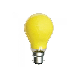Crompton 25 Watt 240v BC Yellow GLS Coloured Lamp