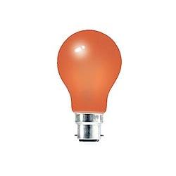 Crompton 25 Watt 240v BC Orange GLS Coloured Lamp