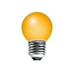 BELL 01511 15 Watt 240v ES Amber G45 Round Coloured Lamp