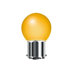 BELL 01510 15 Watt 240v BC Amber G45 Round Coloured Lamp