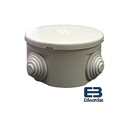 DEG J4480 80x40mm round IP44 ABS Box with grommets GE84S