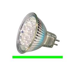 Kosnic KLED1.5/HIO/G5.3 1.5 Watt 12 Volt GX5.3 MR16 Green LED Lamp