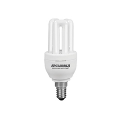 Sylvania 0031144 8 Watt SES Cool White (840) Compact Fluorescent Lamp
