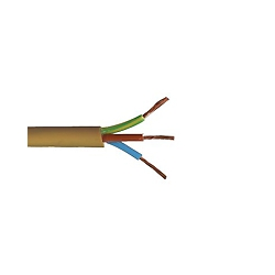 White 0.75mm Brown Blue /& Green//Yellow 3 Core 2183Y Medium Duty Round Flex Cable