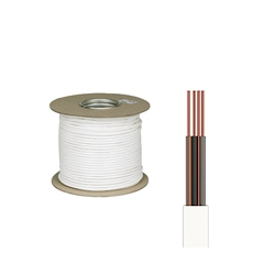 100 Metre Coil of 1.5mm 6243B White LSZH 3 core and earth cable