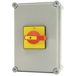 ECL LB1254P 125amp 4pole IP65 Surface Rotary switch  (Padlockable)