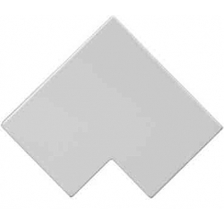 Schneider Mita MFA50W 50x50mm White Midi trunking Flat Angle Bend
