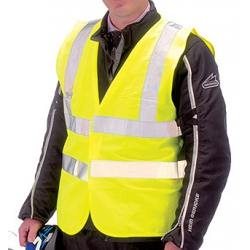Draper 27485 High visibility vest L Traffic waistcoat EN471 Class 2